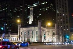 Det berömda Watertower stället i Chicago royaltyfri bild