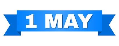 Det blåa bandet med 1 MAY att smsa vektor illustrationer
