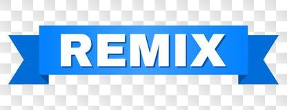 Det blåa bandet med REMIX text royaltyfri illustrationer