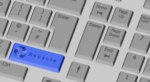 det blåa datortangentbordet återanvänder symbol Fotografering för Bildbyråer