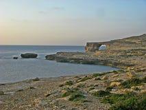 Det blåa fönstret, Gozo royaltyfri foto