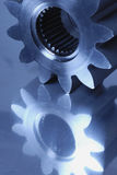det blåa kugghjulet parts titaniumen Royaltyfri Bild