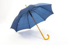 Det blåa paraplyet Arkivfoton