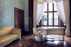Det blåa rummet i den Vorontsov slotten royaltyfri bild