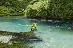 Det blåa ögat, Saranda, Albanien Royaltyfri Bild