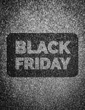 Det Black Friday tecknet blänker på bakgrund arkivbild