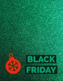 Det Black Friday tecknet blänker på bakgrund royaltyfria foton
