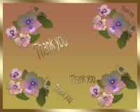 Det blom- kortet tackar dig Arkivfoton