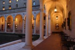 Det Boston offentliga biblioteket är ett av de största kommunala offentligt biblioteksystemen i Förenta staterna arkivbild