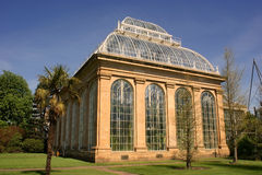 det botaniska edinburgh trädgårds- huset gömma i handflatan kunglig person Arkivbild