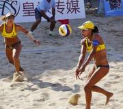 Det Brasilien laget juliana och antonellien segrade mästerskapet Royaltyfri Fotografi