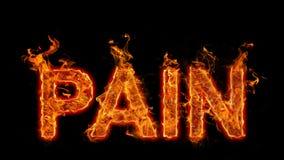 Det brinnande ordet smärtar Royaltyfri Fotografi