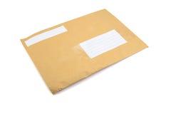 Det bruna kuvertslutet sköt upp Royaltyfria Bilder