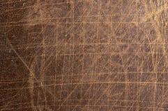 Det bruna lädertexturslutet kan upp använt som bakgrund royaltyfria foton
