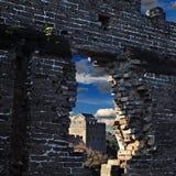 Det brutna fönstret Royaltyfri Fotografi