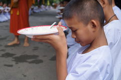 Det buddistiska folket ber och önskar, Bangkok, Thailand Royaltyfri Foto