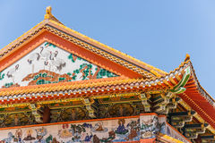 Det buddistiska tempelet taklägger arkivfoto