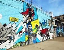 Det Bushwick kollektivet, gatakonst Arkivfoto