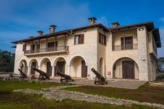 Det bysantinska museet av Ioannina i Grekland inhysas i en av byggnaderna av citadellen dess grönkål av Ioannina arkivfoton