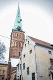 Det catedral av St John i gamla Riga Arkivfoto