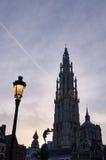 Det catherdral av Antwerp, Belgien Royaltyfri Bild