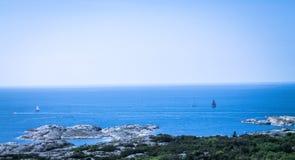Det Cattegat havet från den Carlstens fästningen i Marstrand royaltyfri bild
