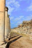 Det Celsus arkivet av Ephesus den forntida staden Arkivbilder