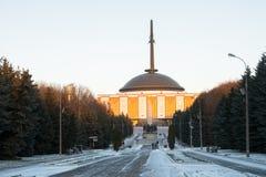 Det centrala museet av det stora patriotiska kriget av 1941-1945 i Victory Park på Poklonnaya Gora moscow Ryssland Fotografering för Bildbyråer