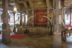 Det ceremoniella rummet var tanden för Buddha` s Fotografering för Bildbyråer