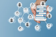 Det Chatbot begreppet med Instant Messenger visade på den smarta telefonen