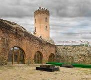 Det Chindia tornet (Turnul Chindiei i romanian) i Targoviste royaltyfria bilder