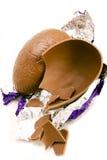 det chokladeaster ägget mjölkar Arkivfoton