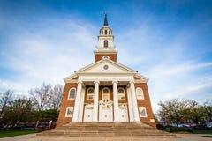 Det Coffman kapellet på Hood College, i Frederick, Maryland royaltyfri fotografi