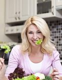 Det concept. Concept of diet for girl on white background Stock Photos