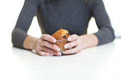 Det concept. Concept of diet for girl on white background Stock Images