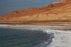 Det döda havet saltar Arkivfoto