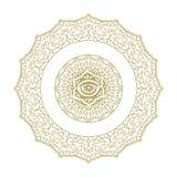 Det dekorativa diagramet, mandala gillar vektor illustrationer