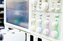Det digitala oscilloskopet Arkivbild