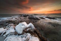 Det djupfrysta kungariket av vinterhavet Arkivfoton