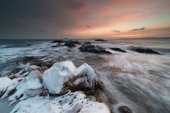 Det djupfrysta kungariket av vinterhavet Arkivbild