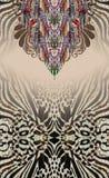 Det djura trycket färgar smyckenbranschprinting royaltyfria bilder
