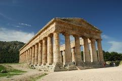 Det Doric tempelet av Segesta Royaltyfri Bild