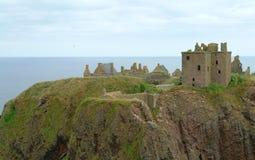 det dunnotar slottet stonehaven Royaltyfri Bild