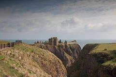 det dunnottar slottet fördärvar scotland Arkivfoton