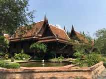 Det Dvaravati huset Fotografering för Bildbyråer