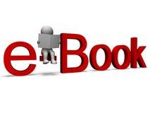 Det Ebook ordet visar det elektroniska arkivet Royaltyfria Foton