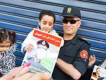 Det egyptiska folket älskar general Sisi Royaltyfri Fotografi