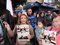 Det egyptiska folket älskar general Sisi Fotografering för Bildbyråer