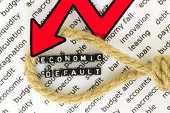 Det ekonomiska begreppet av nedgången Royaltyfri Fotografi