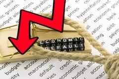 Det ekonomiska felet av teckenet Royaltyfri Fotografi
